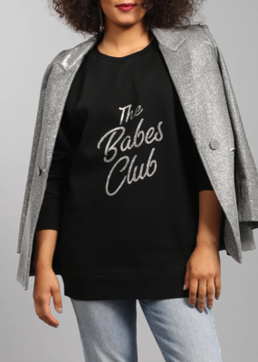 Brunette the Label BTL - The Big Sister Crew in Babes Club Silver Glitter Big Sister