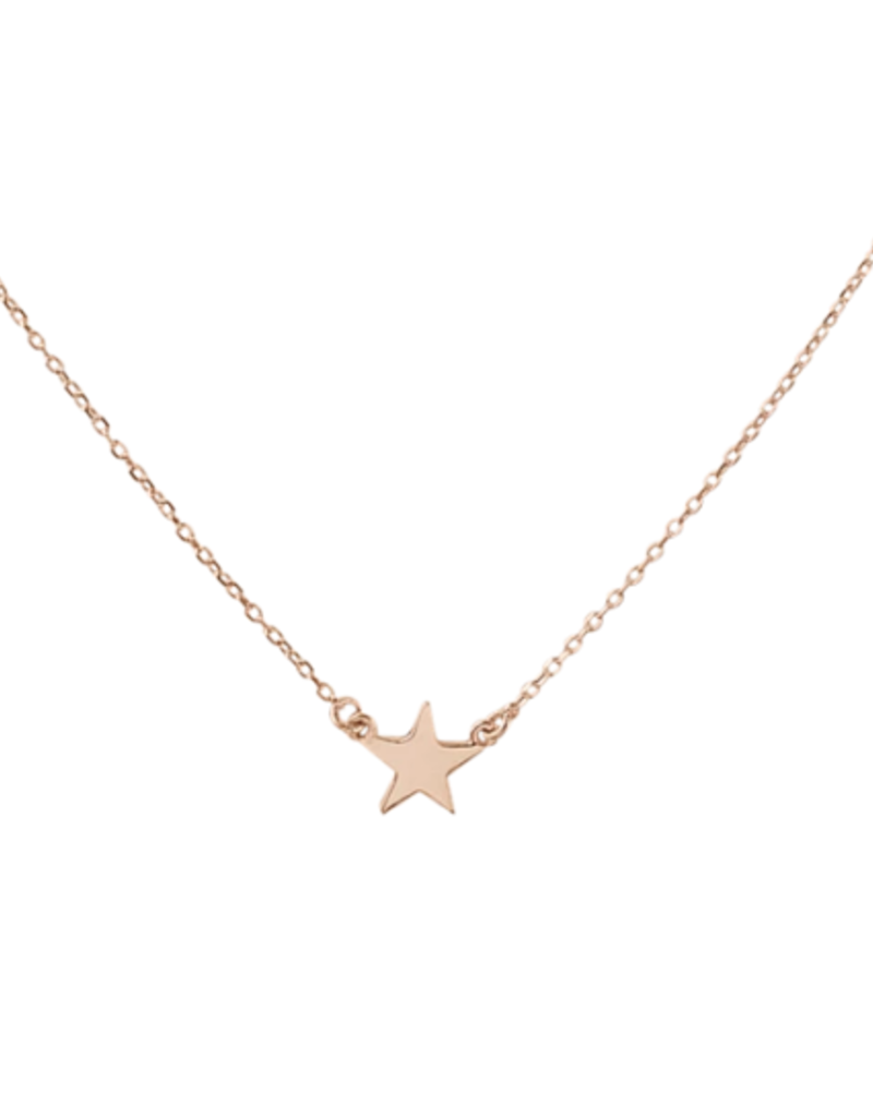 Right Hand Gal Star Necklace - Rose Gold