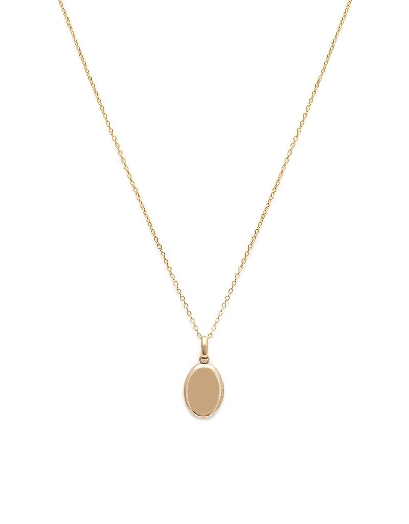 Leah Alexandra Leah Alexandra Petite Satin Locket Necklace with Diamond