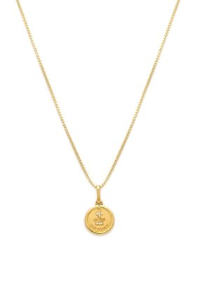 Leah Alexandra Leah Alexandra - Circle Love Token Necklace - Gold