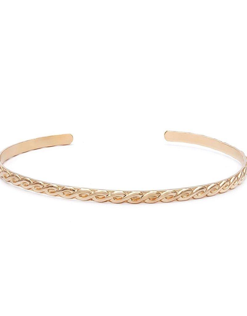 Leah Alexandra Leah Alexandra Maxime Cuff Bracelet - Goldfill