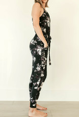 Privilege Ashley Dark Floral Jumpsuit
