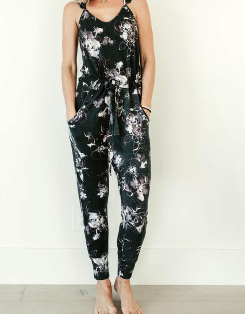 Privilege Ashley Dark Floral Jumpsuit