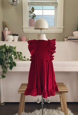 Lavender and Lillie Velvet Red Dress