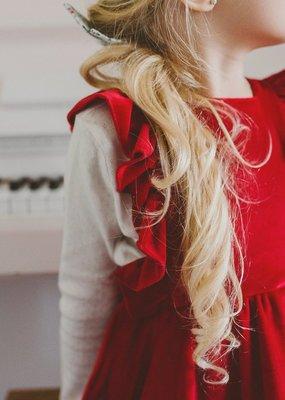 Lavender and Lillie Lavender and Lillie - Red Velvet Dress