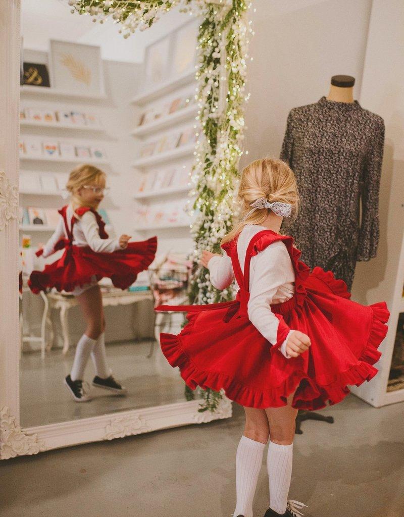 Lavender and Lillie Velvet Red Dress