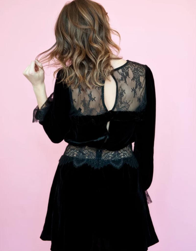 For Love and Lemons For Love and Lemons - Beatrix Velvet Dress