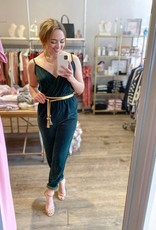 Cupcakes & Cashmere Budapest Jumpsuit in Forest Green