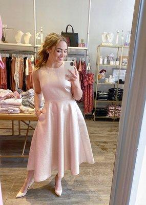 InWear Mairil Rose Gold Metallic Dress