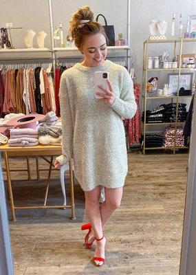InWear Ozonal  Glitter Sweater Dress