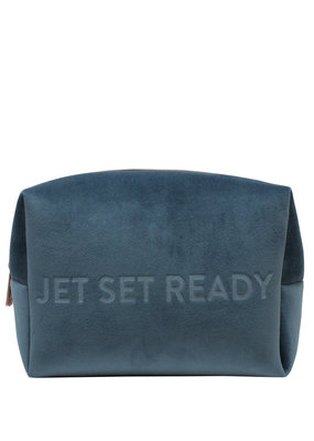 My Tagalongs Large Jetset Velour Cosmetic Pouch *Two Colours*