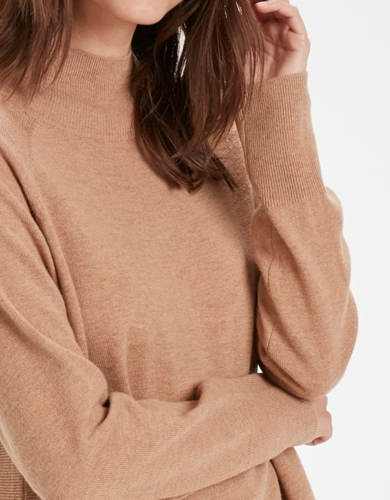 Part Two Taura Sweater - Dark Camel