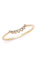 Melanie Auld Dainty Arc Ring in Gold