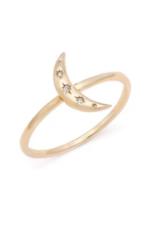 Melanie Auld Crescent Moon Ring