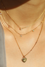 Melanie Auld Heart Lock Necklace