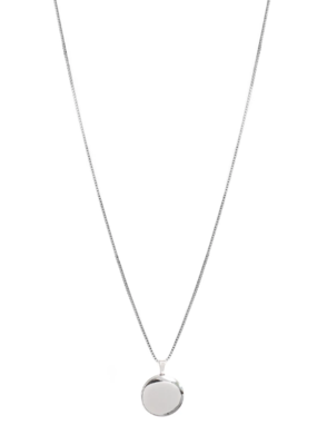 Lisbeth Round Locket Necklace - Silver