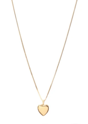 Lisbeth Heart Locket Necklace - Gold