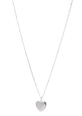 Lisbeth Heart Locket Necklace in Silver