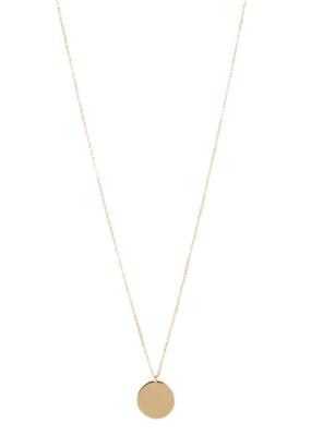 Lisbeth Eva Gold Disc Pendant Necklace