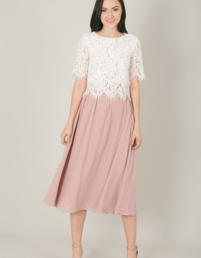 Space46 Jaylyn Layered Lace Top - White