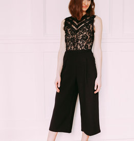 Adelyn Rae Doreen Lace Culottes Jumpsuit