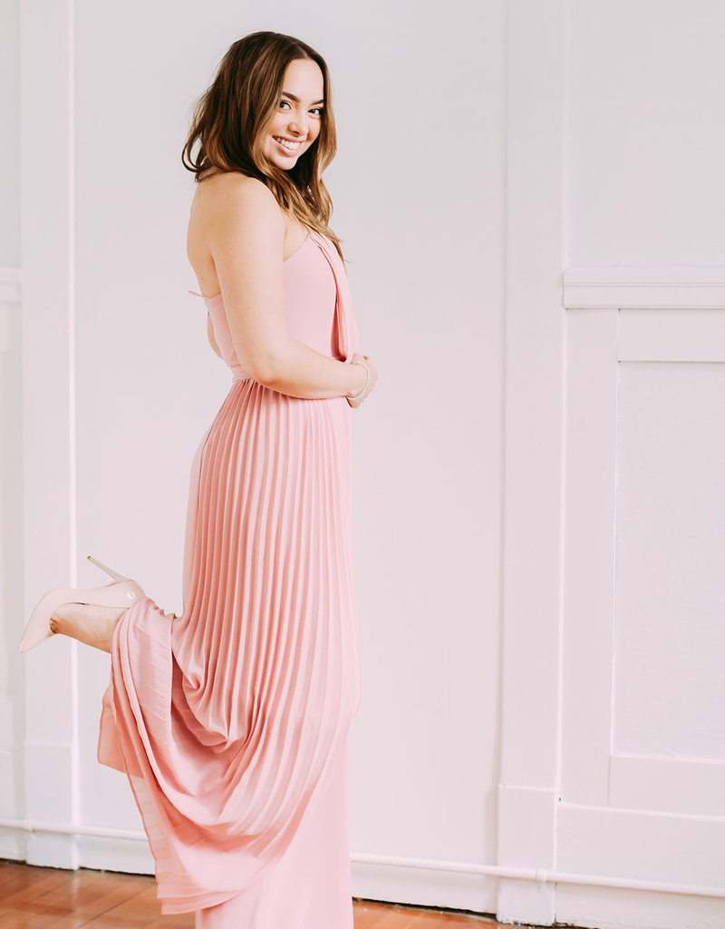 Adelyn Rae Elliott Strapless Jumpsuit