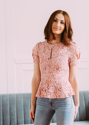 Adelyn Rae Doreen Lace Blouse