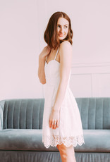 Minuet Lily Lace Eyelet Dress in White