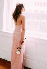 Minuet Anna Maxi Lace Dress in Blush