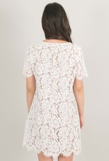 Space46 Addie Lace Dress - Nude White