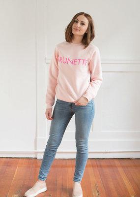 Brunette the Label Brunette the Label Crewneck Sweatshirt in Ballet Pink