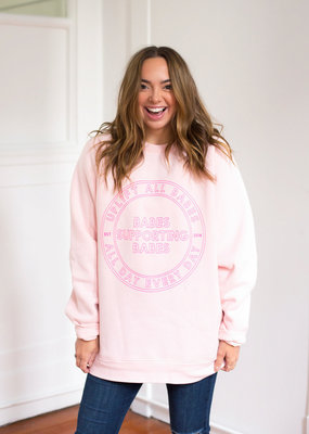 Brunette the Label Uplift All Babes Sweatshirt - Ballet Pink