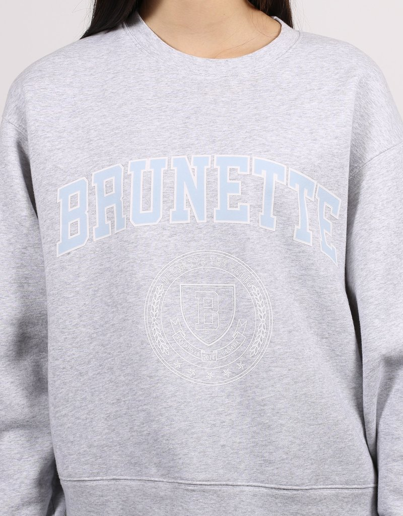 Brunette the Label Varsity Crest Step Sister Crew - Brunette