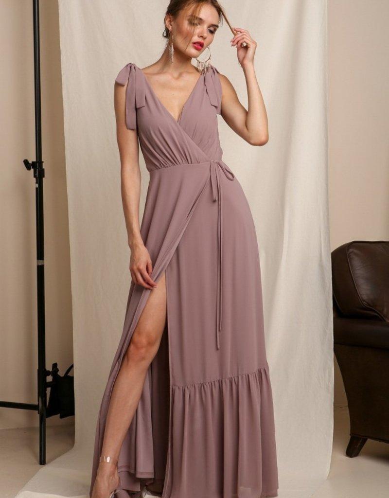 Soieblu Lila Maxi Wrap Dress - Mauve