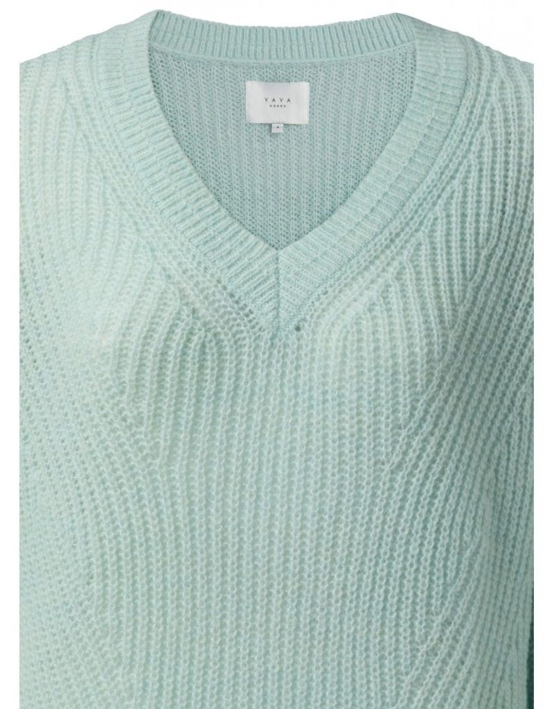 Yaya Pullover Soft Knit Sweater in Icy Blue