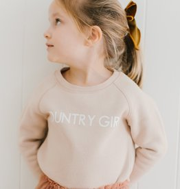 Brunette the Label Country Girl - Little Babes Classic Crewneck Sweatshirt in Toasted Almond