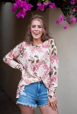 Show Me Your Mumu Bonfire Sweater in Hydrangea Blooms