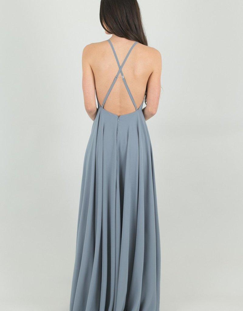 Skylar Belle Payton Maxi Dress - Medium Blue