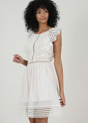 Molly Bracken Jasmine Beige Lace Dress