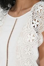 Molly Bracken Jasmine Beige Lace Dress