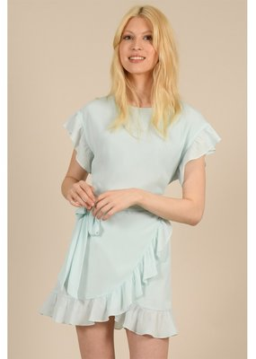Molly Bracken Donna Ruffle Faux Wrap Dress