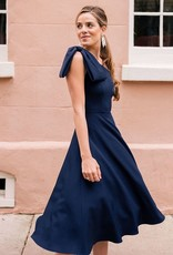 Gal Meets Glam Yvonne One Shoulder Bow Dress