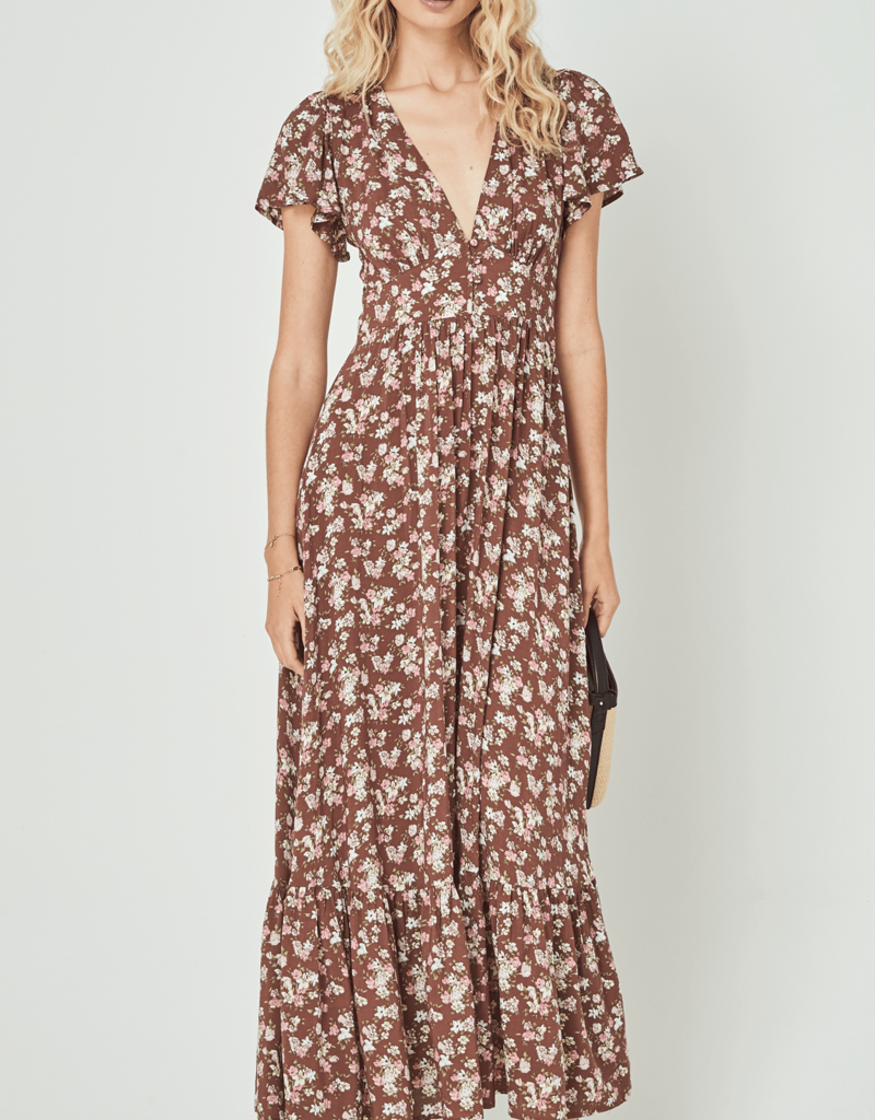 Auguste the Label Matilda Sunday Maxi Dress Brown