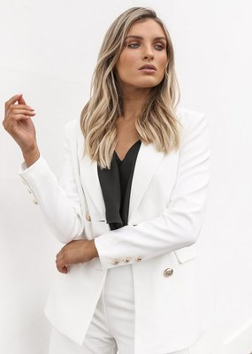 Madison the Label Kendra Blazer in White