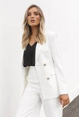 Madison the Label Kendra Blazer in White