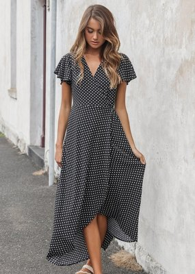 Madison the Label Sophia Polkadot Wrap Dress
