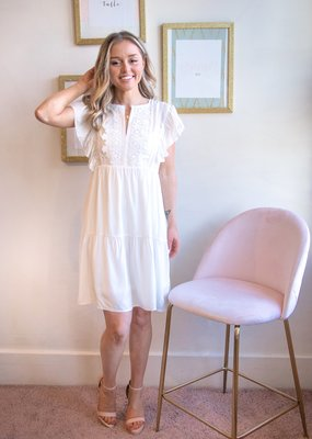 Molly Bracken Summer Woven White Dress
