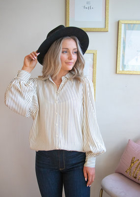 Part Two Peony Striped Shirt