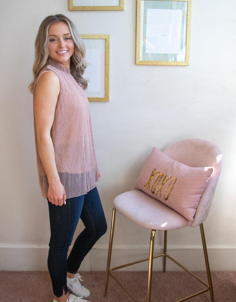 Molly Bracken Kate Blouse in Rose Gold