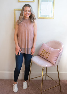 Molly Bracken Kate Blouse in Rose Gold Shimmer